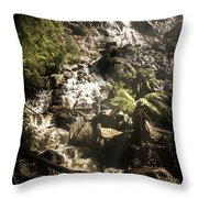 Tranquil Mountain Canyon Throw Pillow