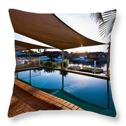 Tranquil Pool Throw Pillow