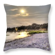 Tranquil Southern Night Throw Pillow