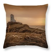 Tranquil Sunset At Llanddwyn Island - Anglesey, North Wales Throw Pillow