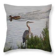 Tranquil Waterlife Throw Pillow