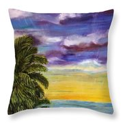 Tranquility At Kapoho Last Sunset Throw Pillow