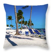 Tranquility Bay Beach Paradise Throw Pillow
