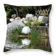 Tranquility In The Japanese Garden Throw Pillow