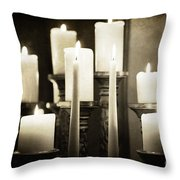 Tranquility Of Candlelight Throw Pillow