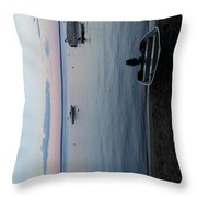Tranquility On Sebago Throw Pillow