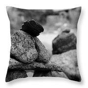 Tranquility Rocks Buddhist Monastery Carmel Ny  Throw Pillow