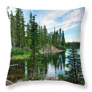 Tranquility - Twin Lakes In Mammoth Lakes California Throw Pillow