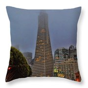 Trans American Building -1 Throw Pillow