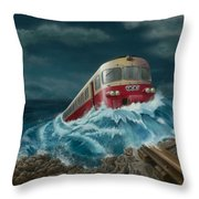 Trans Europe Express Throw Pillow