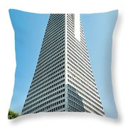 Transamerica Pyramid In San Francisco, California Throw Pillow