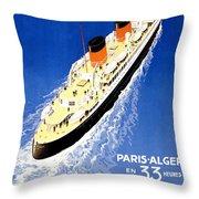 Transatlantic Ocean Liner Throw Pillow