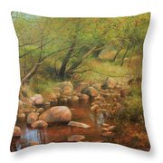 Transcarpatien Landscape Throw Pillow