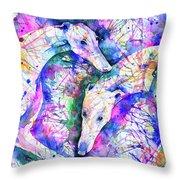 Transcendent Greyhounds Throw Pillow