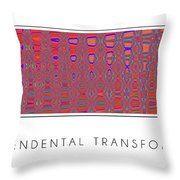 Transcendental Transformation Throw Pillow