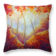 Transference Of Life Throw Pillow