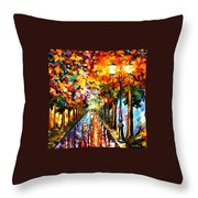 Transformation Of The Night Throw Pillow
