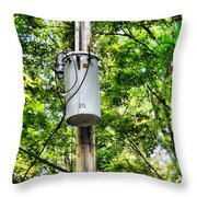 Transformer And Power Lines Throw Pillow