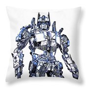Transformers Optimus Prime Or Orion Pax Graphic  Throw Pillow