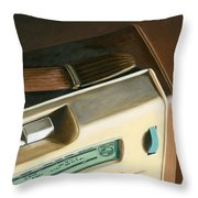 Transistor Radio Throw Pillow