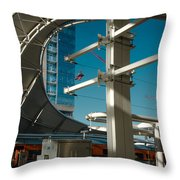Transit Harbor Throw Pillow
