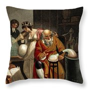 Transition From Alchemy To Chemistry Throw Pillow
