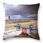 Transition Of Seasons Throw Pillow