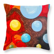 Transitions Time Space And Visions Of November Throw Pillow