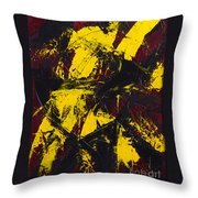 Transitions With Yelllow And Black Throw Pillow