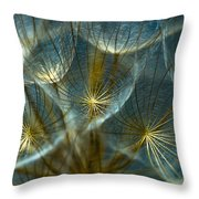 Translucid Dandelions Throw Pillow
