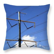 Transmission Lines Throw Pillow