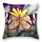 Transparent Butterfly Throw Pillow