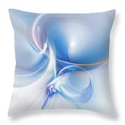 Transparent Flower Throw Pillow