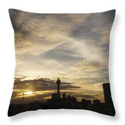 Transpicuous Balcony Sunset #0010 Throw Pillow