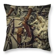 Transport By Bicycle In China Throw Pillow