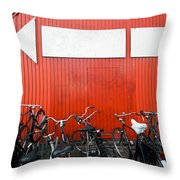 Transportation And Direction Throw Pillow
