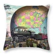 Transportation, C1910 Throw Pillow