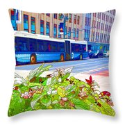 Transportation In New York 4 Throw Pillow