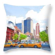 Transportation In New York 8 Throw Pillow