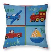 Transportation Modes Throw Pillow