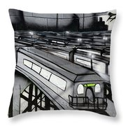 Transporters Throw Pillow