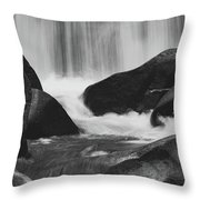 Trap Falls In Ashby Ma Black And White 6 Throw Pillow