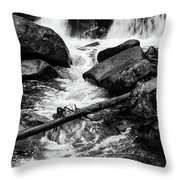 Trap Falls In Ashby Ma Black And White 9 Throw Pillow