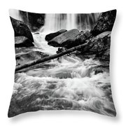 Trap Falls In Ashby Ma Black And White 1 Throw Pillow