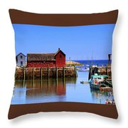 Trap House At Head Of Harbor Throw Pillow
