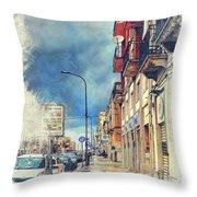 Trapani Art 20 Sicily Throw Pillow