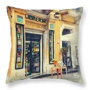 Trapani Art 21 Sicily Throw Pillow