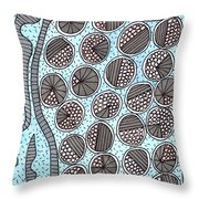 Trapped Circles Pattern  Throw Pillow