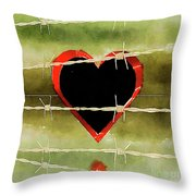 Trapped Heart Throw Pillow