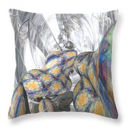Trapped In Glass Throw Pillow
